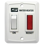 Suburban 232589 RV Water Heater Wall Switch With Light Assembly - White
