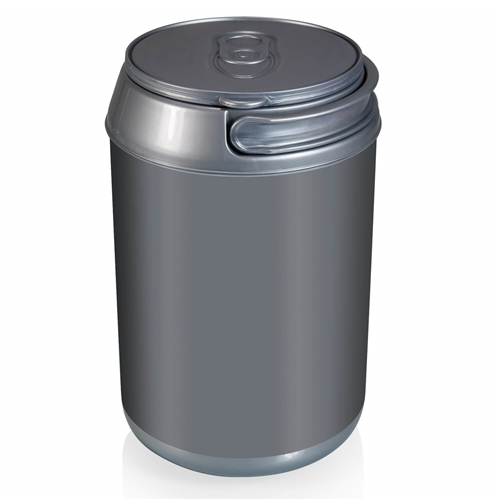 Picnic Time 691-00-000-000-0 Mini 5-Quart Can Cooler - Silver Grey Base