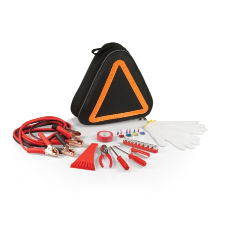 Picnic Time Roadside Emergency Kit - Black with Orange