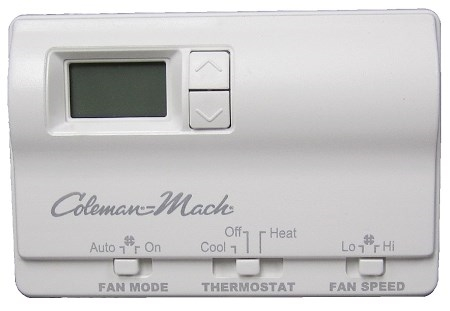 Coleman Mach 6636-3441 Digital 2 Stage Air Conditioner/Gas Furnace RV Wall Thermostat