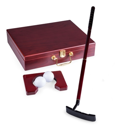 Picnic Time Ace Executive Putter Set - Natural Wood