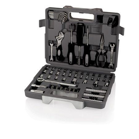 Picnic Time Omni 105-Pc. Tool Kit - Dark Grey with Silver