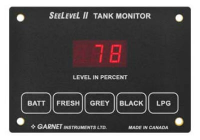 Garnet 709-RVC SeeLevel II Tank Monitor - Monitor Only