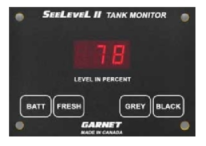 Garnet 709-RVC-NLP SeeLevel II Tank Monitoring System with Alarm - Monitor Only