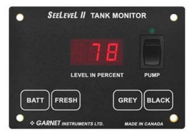 Garnet 709-RVC-PM SeeLevel II Tank Monitor with Alarm - Monitor Only