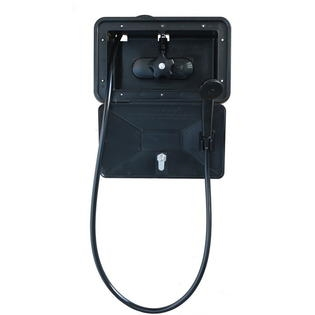 American Brass SHWRBOX-1-BLK Exterior RV Shower Box - Black