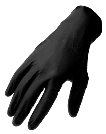 Performance Tool W89012 Black Nitrile Gloves - Large