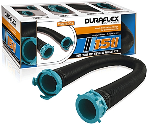 Duraflex 21843 Deluxe RV Sewer Hose Kit - 15'