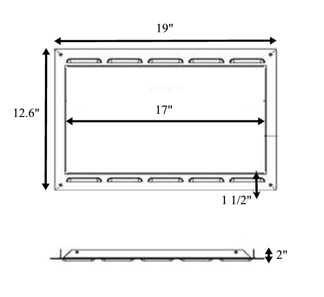 Microwave Trim Kit Generic Custom Inch Stainless Steel For 24 Cabinet