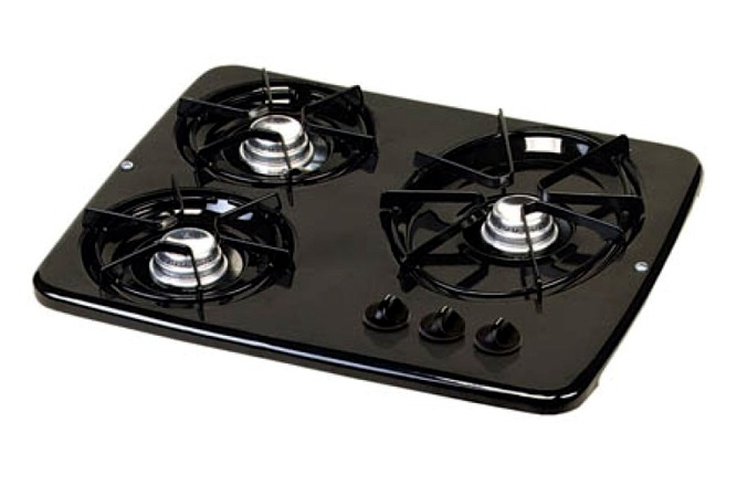 High Quality Atwood 56471 Black 3 Burner Wedgewood Vision Drop In Cooktop