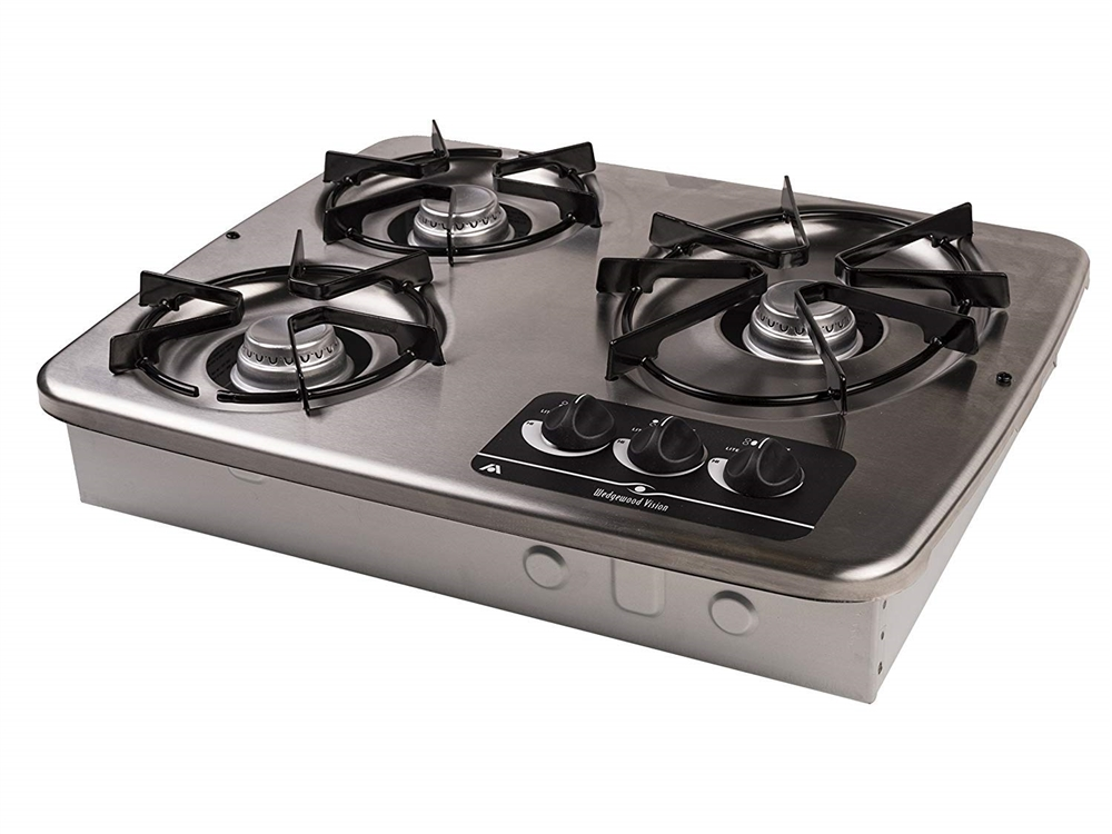 Atwood 56472 Stainless Steel 3 Burner Wedgewood Vision Drop In Cooktop