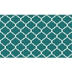 Ruggable 148237 Moroccan Trellis Teal 3' x 5' Indoor/Outdoor Area Rug