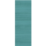 Ruggable 158663 Solid Textured Ocean Blue 2-1/2' x 7' Indoor/Outdoor Area Rug