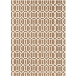 Ruggable 93667 Modern Fretwork Tan 5' x 7' Indoor/Outdoor Area Rug