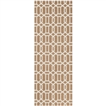 Ruggable 93689 Modern Fretwork Tan 2-1/2' x 7' Indoor/Outdoor Area Rug