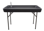 "Patrick Industries PRT-2448FLDBLKFAU Camp And Chill Faucet Table - 24"" x 48"""
