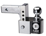 "Fastway 48-00-8400 FLASH Integrated Scale Ball Mount With 2"" And 2-5/16"" Balls - 4"" Drop - 10,000 Lbs"
