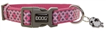 "Doog COLPBS-S Toto Pet Collar - 9-13"" - Pink/Gray"