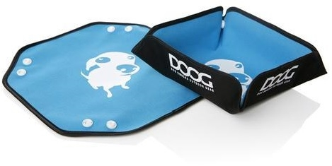 Doog FB01 Portable Fold-Up Water Bowl - Blue/Black