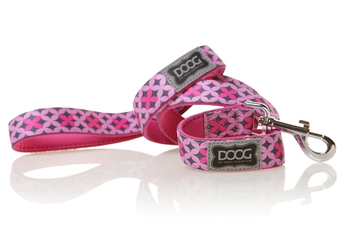 "Doog LEADPBS-S Toto Pet Leash - 47"" - Pink/Gray"
