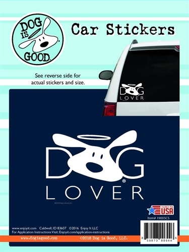 Enjoy It 19005CS Dog Is Good Dog Lover Vinyl Decal - 8 Pack