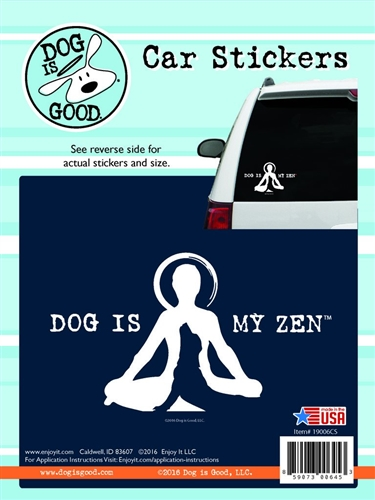 Enjoy It 19006CS Dog Is Good Dog Is My Zen Vinyl Decal