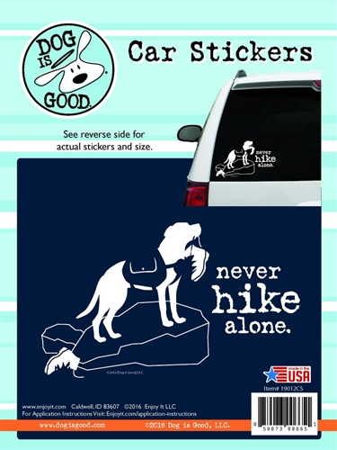 Enjoy It 19012CS Dog Is Good Never Hike Alone Vinyl Decal - 8 Pack