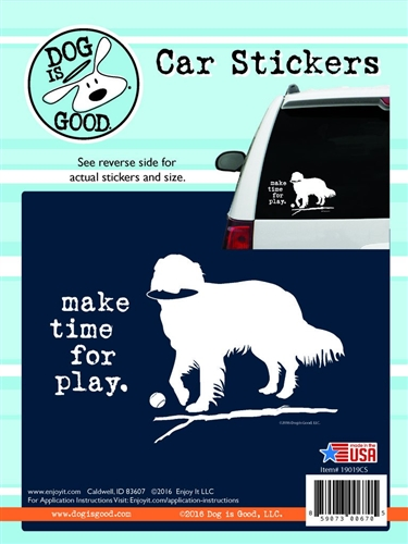 Enjoy It 19019CS Dog Is Good Make Time For Play Vinyl Decal - 8 Pack
