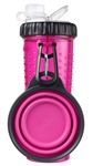 Dexas International PW450432233 Snack-DuO Pet Dish And Reusable Bottle - Pink
