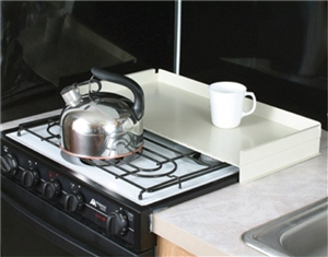 White RV Stove Top Cover
