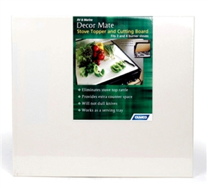 Camco 43709 Decor-Mate Almond Stove Topper