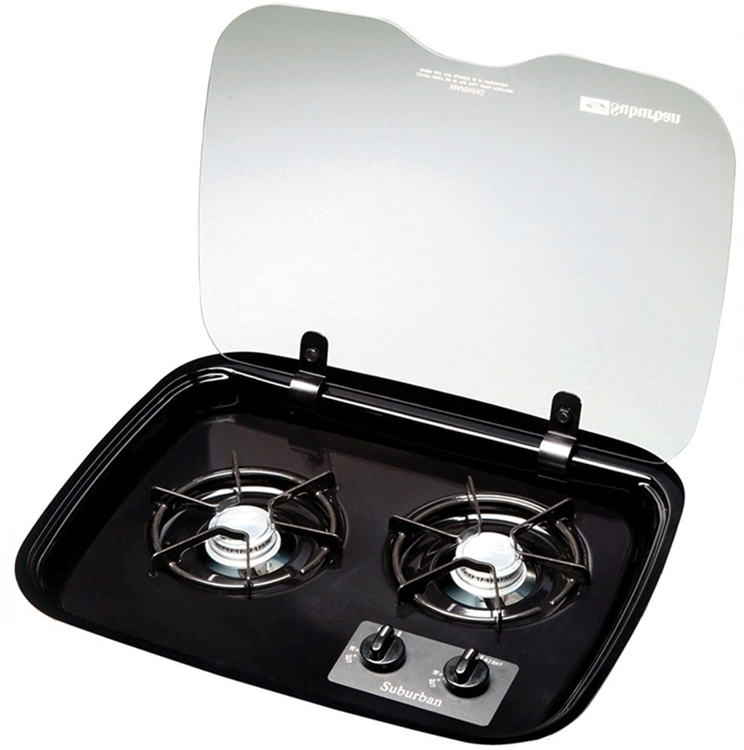 Suburban 2983a Flush Mount Glass Cover For 2 Burner Drop
