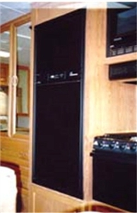 FRV Inc. 2620L Dometic RM2620 Black Acrylic Refrigerator Door Panel