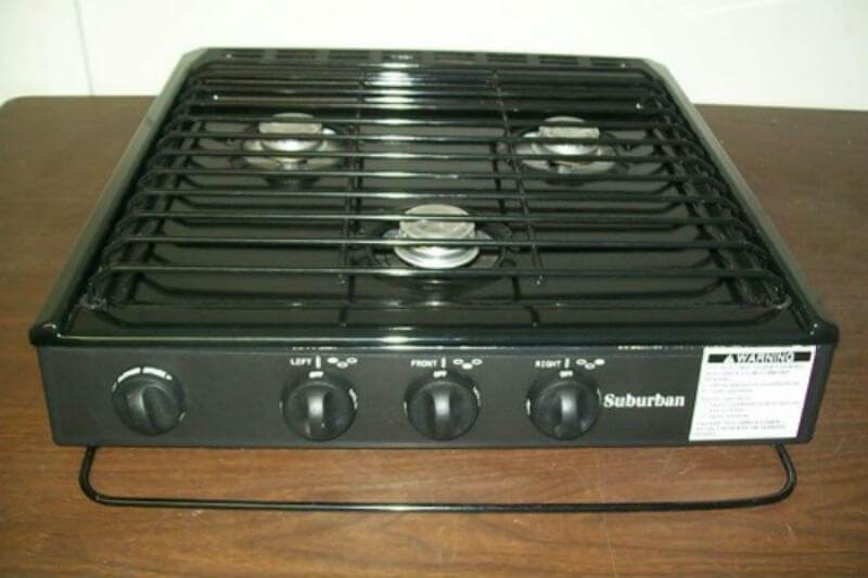 Ordinaire Suburban 3100A 3 Burner Slide In RV Cooktop Stove   Piezo Ignition With  Conventional Burners