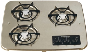 Suburban 3 Burner, Drop-In Cooktop - Stainless Steel