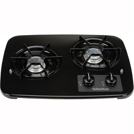 Suburban 2937ABK 2-Burner Drop-In Cooktop - Black