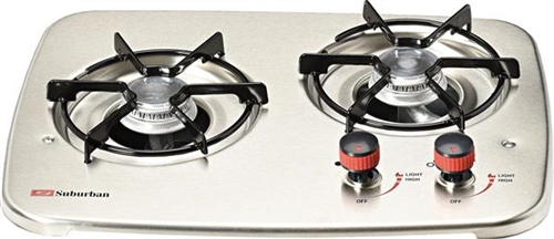 Suburban 2937AST 2-Burner Drop-In Cooktop - Stainless Steel