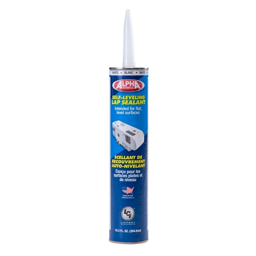 Alpha Systems 862144 1021 Low VOC Self-Leveling Lap Sealant - White - 10.3 Oz