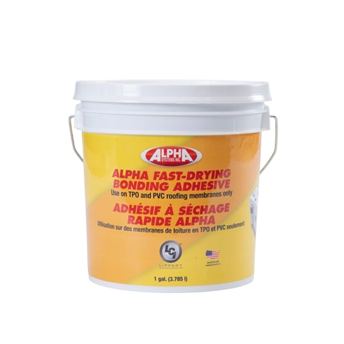 Alpha Systems 862400 8019 Fast-Drying Water-Based RV Roof Bonding Adhesive - White - 1 Gallon