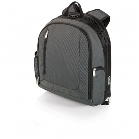 Picnic Time PT-Navigator Backpack Cooler and Portable Seat - Grey with Black