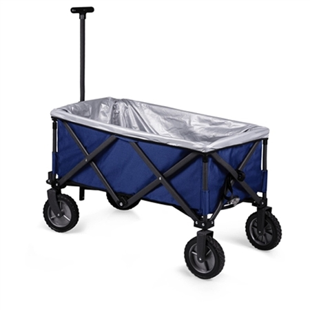 Picnic Time Adventure Folding Utility Wagon and Upgrade Kit - Navy