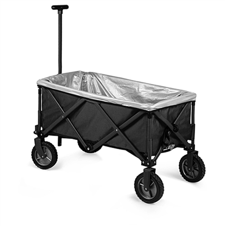 Picnic Time Adventure Folding Utility Wagon and Upgrade Kit - Dark Grey