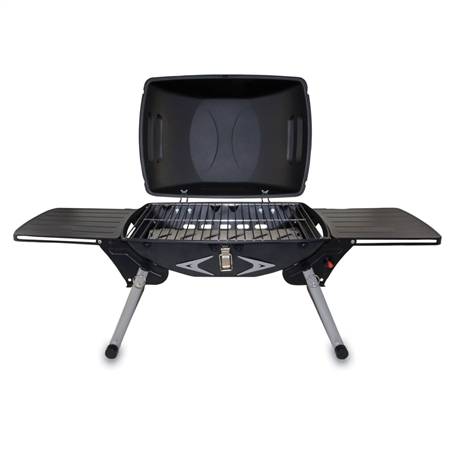 Picnic Time Portagrillo Portable Gas BBQ Grill - Black with Grey and Silver