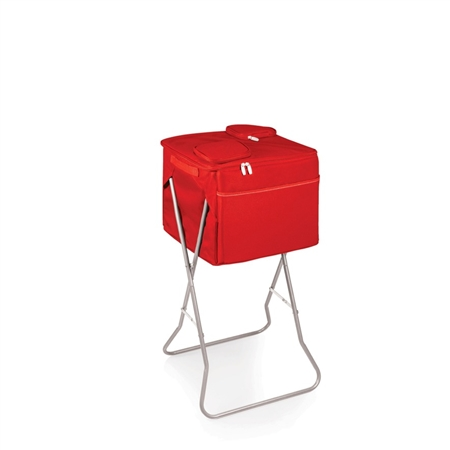 Picnic Time Party Cube Portable Standing Beverage Cooler - Red