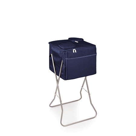 Picnic Time Party Cube Portable Standing Beverage Cooler - Navy