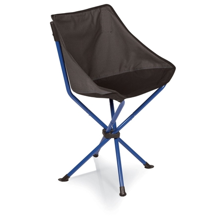 Picnic Time PT-Odyssey Portable Chair - Grey with Blue