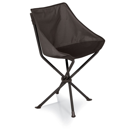 Picnic Time PT-Odyssey Portable Chair - Grey with Black