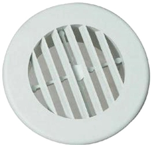 "D & W 3940WH 4"" White Circular Heat Vent"