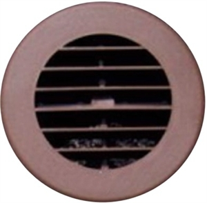 "D & W 3940WN 4"" Walnut Circular Heat Vent"