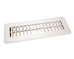 JR Products 288-86-AB-PW-A White Floor Register w/ damper